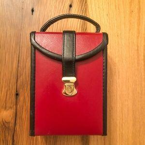 Vintage 1990s Travel Jewelry Case Organizer Box